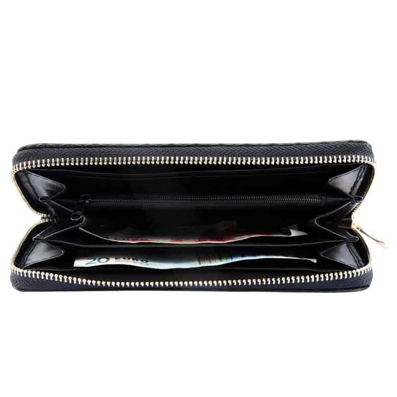 Klasična ženska denarnica črna barva