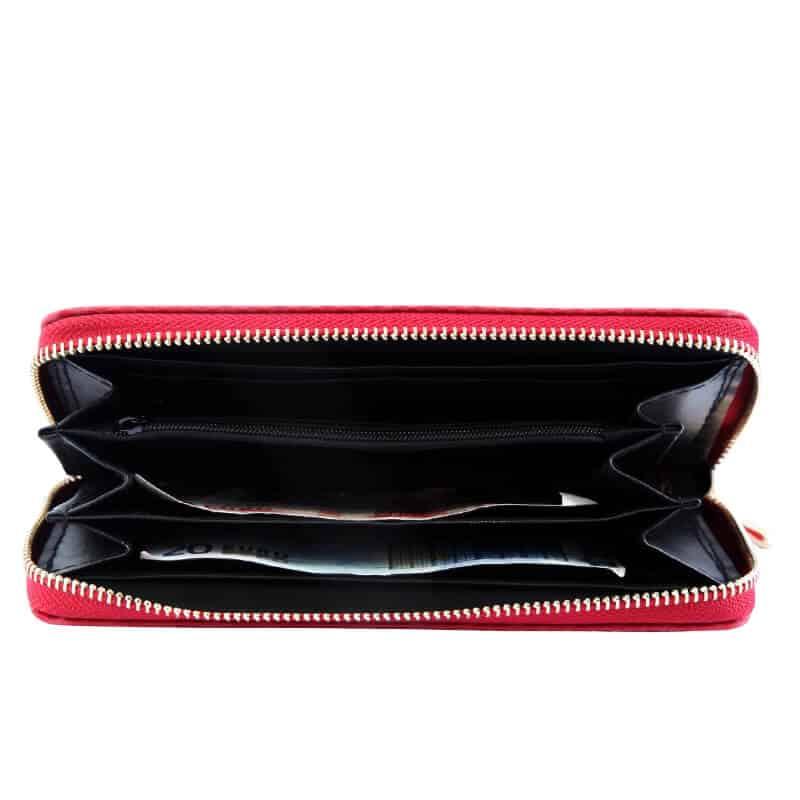 Klasična ženska denarnica rdeča barva