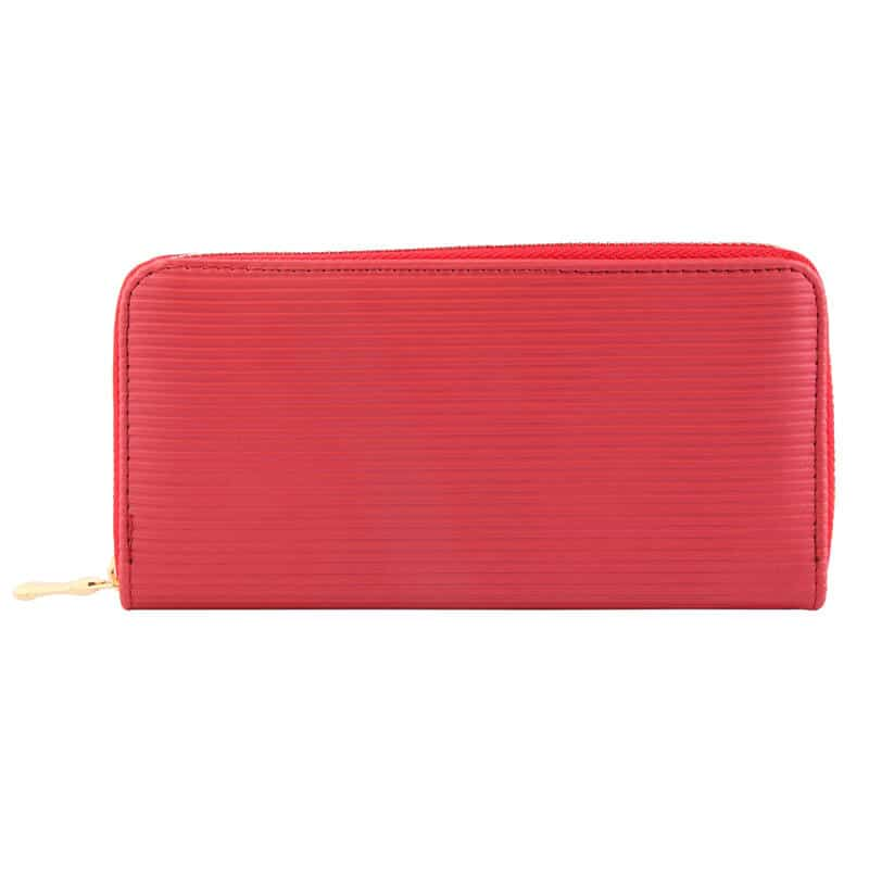 Minimalistična ženska denarnica Rdeča