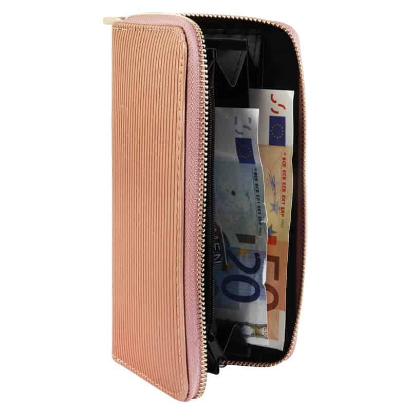Minimalistična ženska denarnica bež barva
