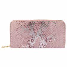 Moderna ženska denarnica Kačji vzorec Roza