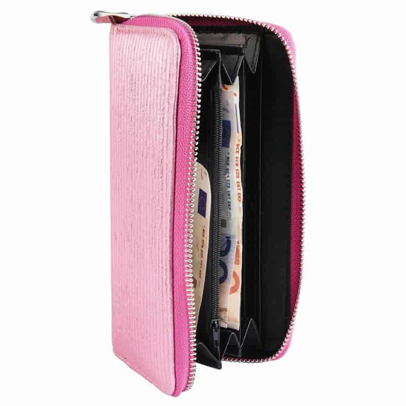 Modna ženska denarnica bleščeče roza