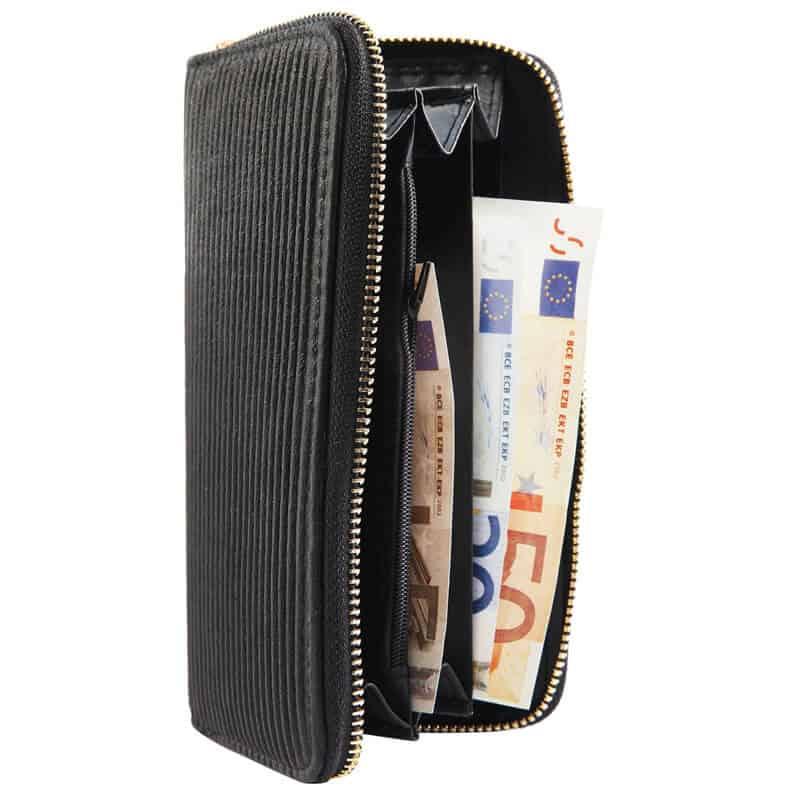 Modna ženska denarnica črna barva