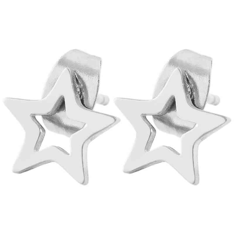 Srebrni uhani zvezdice