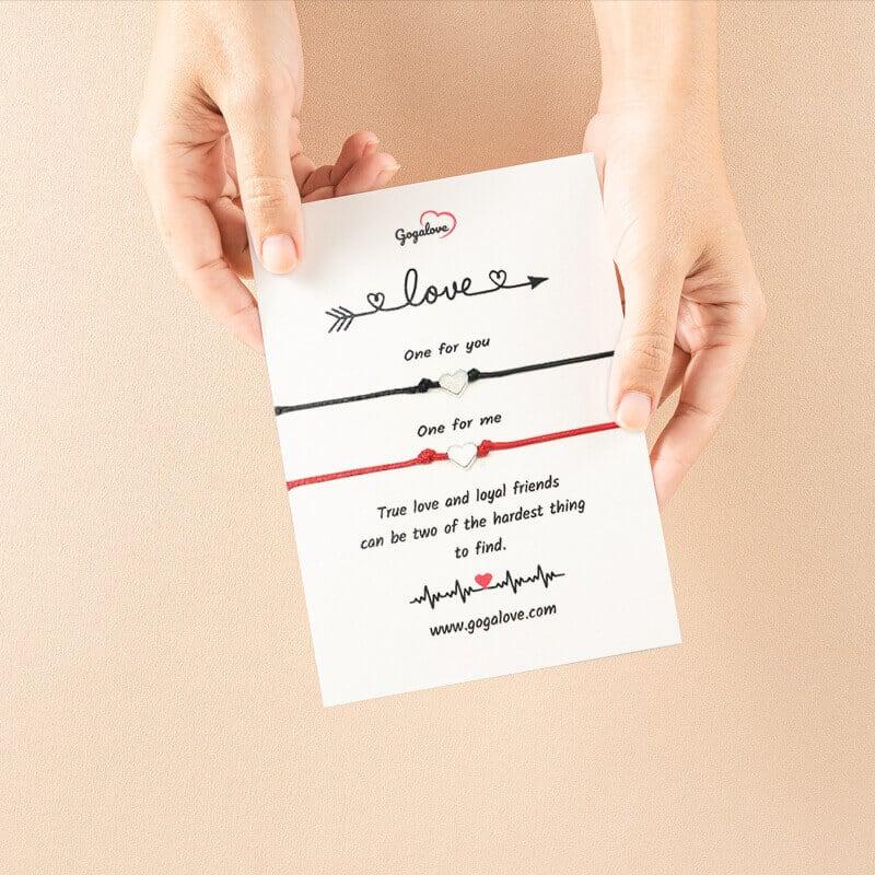 Zapestnica za pare True love s sporočilom