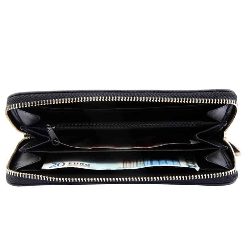 Ženska denarnica Srce črna barva