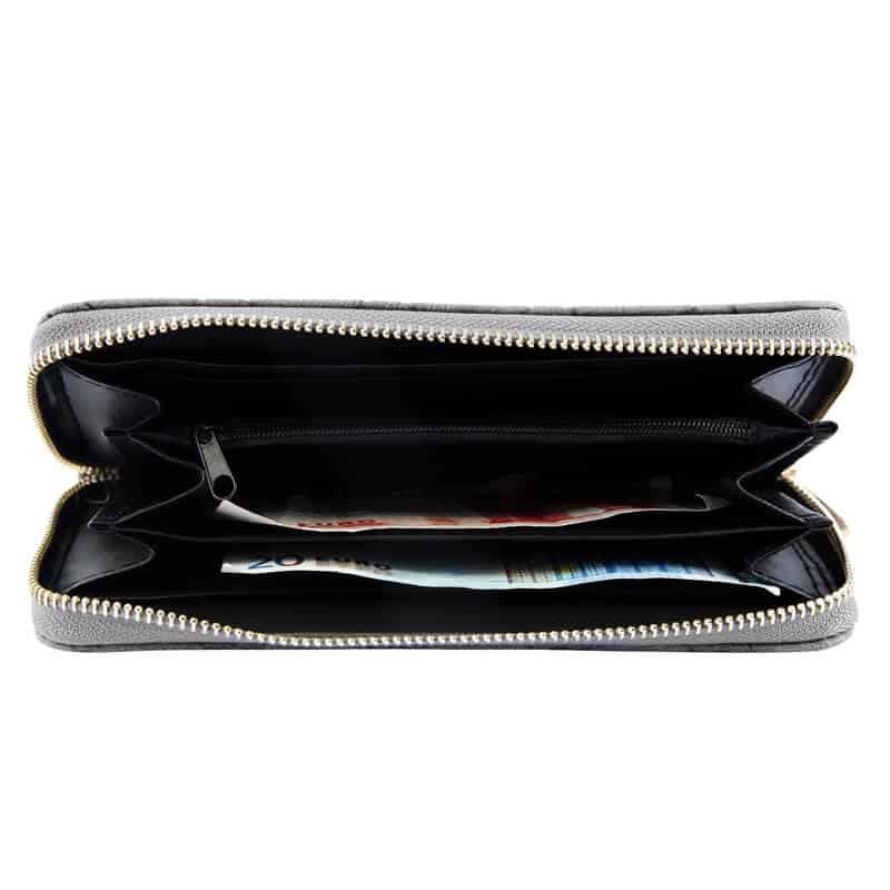 Ženska denarnica s Srčki Siva barva