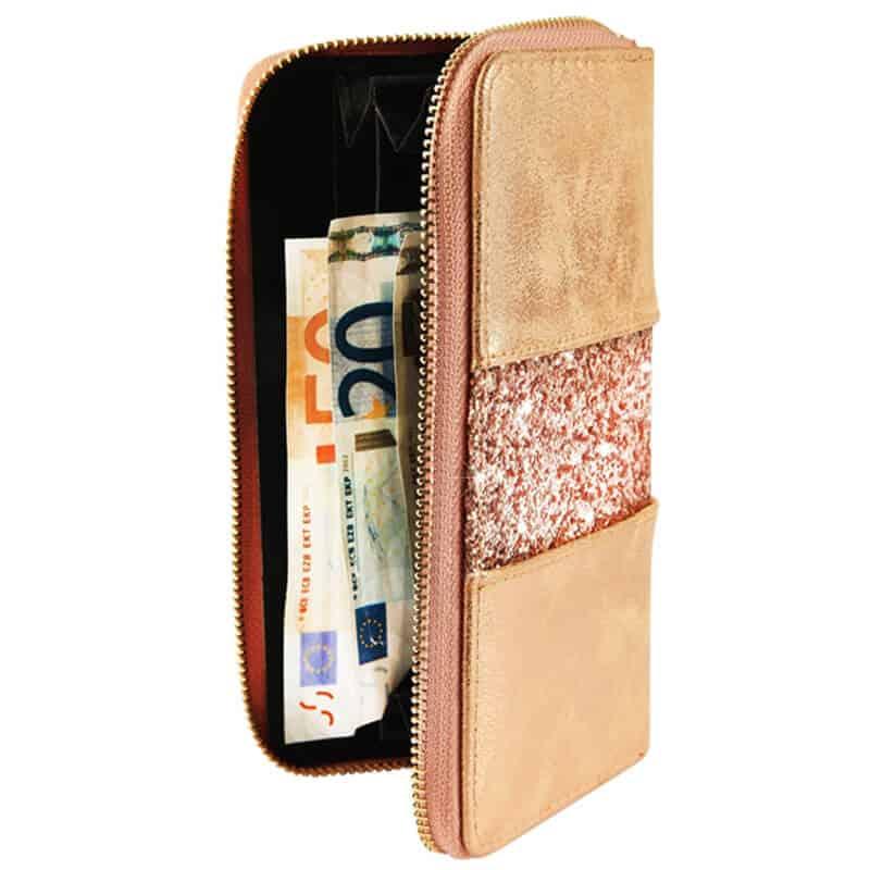 Ženska denarnica z bleščicami velikost denarnice