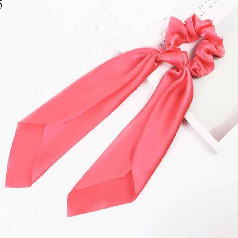 elastika za lase nežno roza