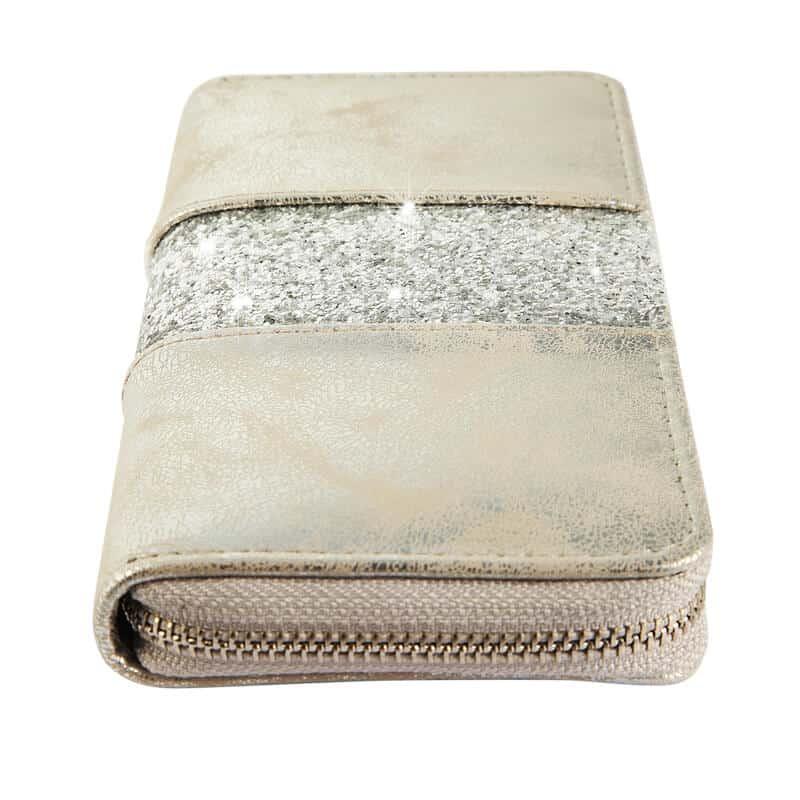 ženska denarnica bleščeče zlata barva