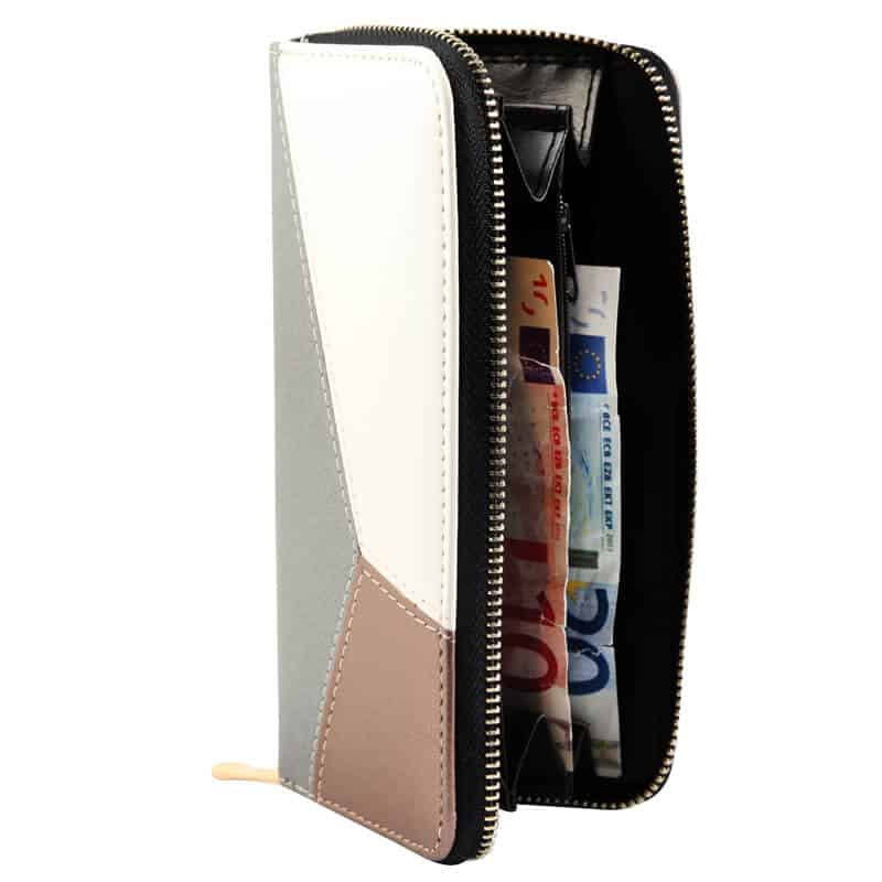 ženska denarnica srebrna barva