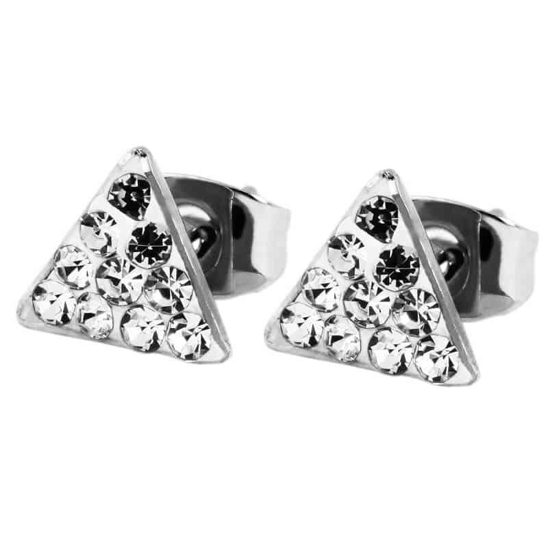 Diamantni uhani trikotnik