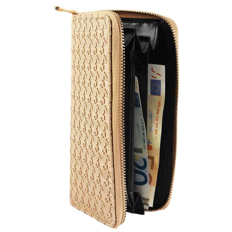 Ženska denarnica GOX Zlata zadrga