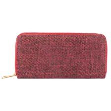Ženska denarnica platnena denarnica Rdeča barva