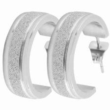 srebrni uhani modni elegantni
