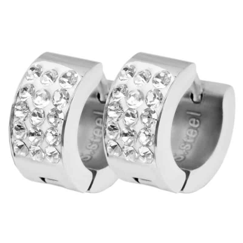 uhani z diamanti okrogli
